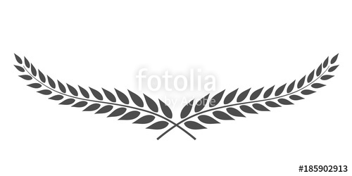 500x250 Laurel Wreath Vector Isolated On White Background Stock Image And
