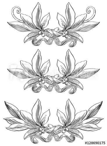 368x500 Laurel Wreaths. Vector Set Of Elements With Laurel Leaves