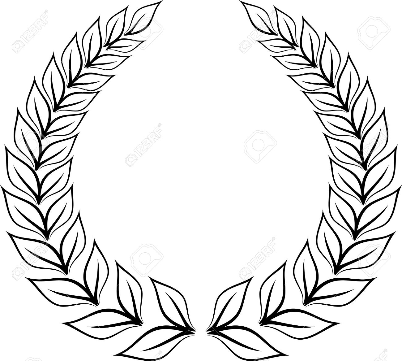 1300x1166 Collection Of Laurel Leaves Drawing High Quality, Free