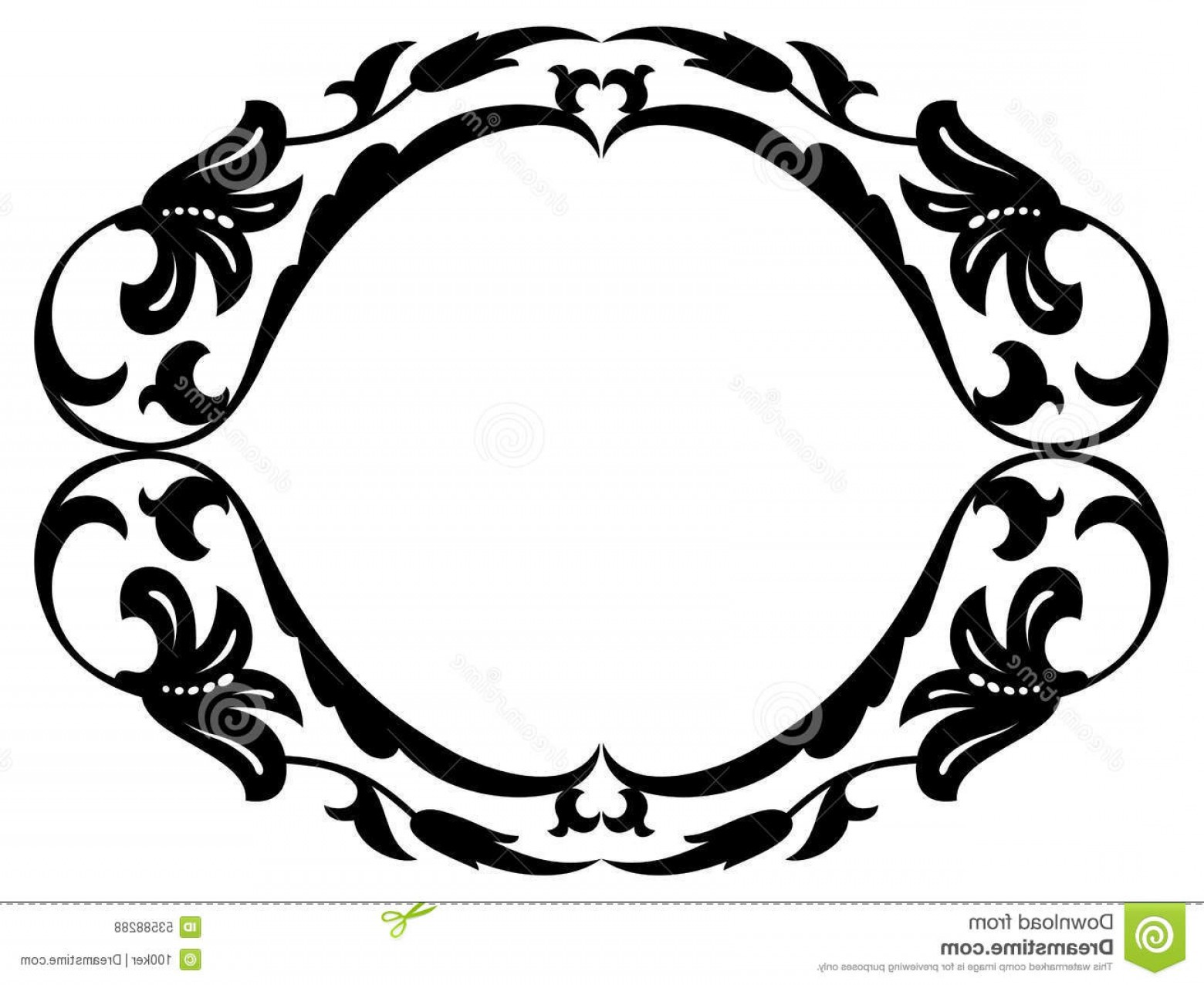 1560x1276 Stock Illustration Oval Frame Laurel Leaves Texture Watercolor