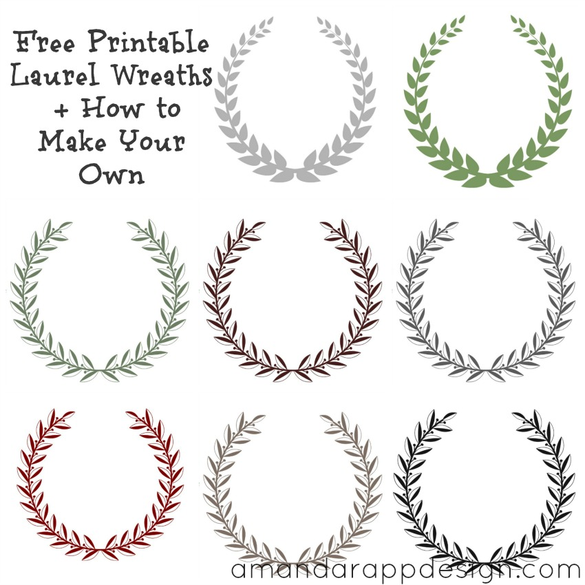 850x850 Free Laurel Vector Free Printable Laurel Wreaths How To Make Your
