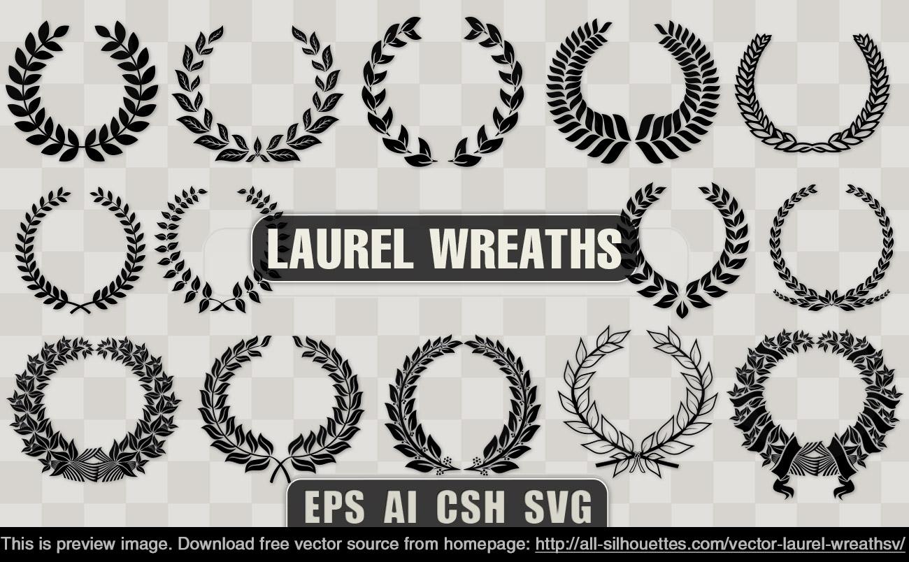 Laurel Wreath Vector Free
