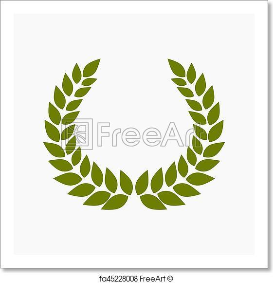 561x581 Free Art Print Of Green Laurel Wreath. Green Laurel Wreath. Vector