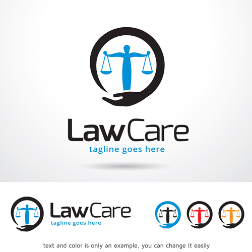 500x500 Law Care Logo Vector Free Download