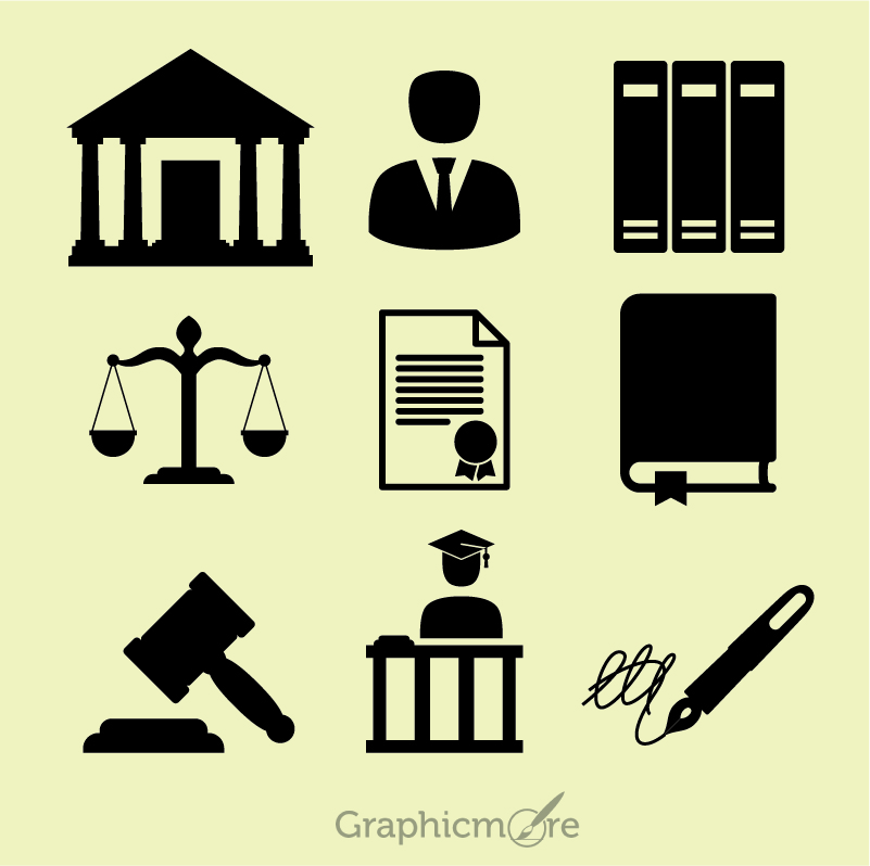 801x798 Law Icons Set Free Vector File Download By Graphicmore