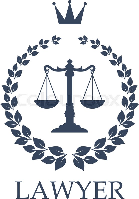 557x799 Law Firm Isolated Emblem. Lawyer Office Sign With Scales Of