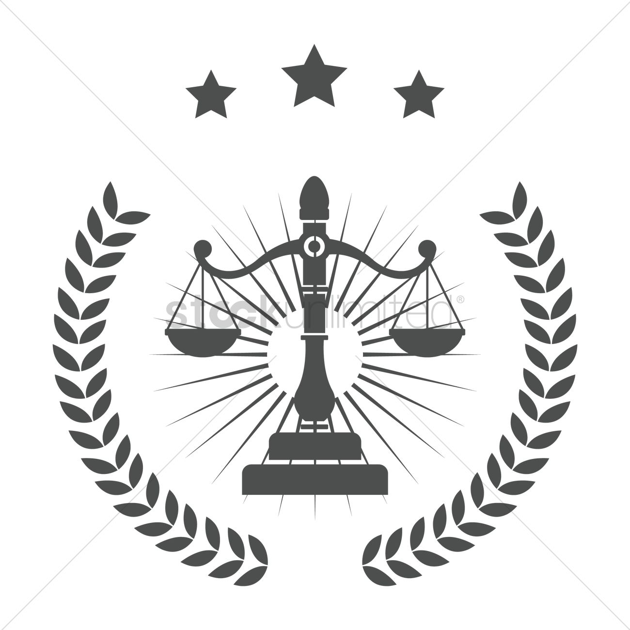 1300x1300 Law Logo Element Vector Image