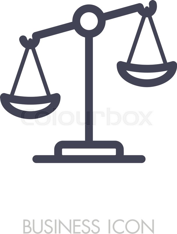 608x800 Law Scale Vector Icon, Justice Outline Icon. Graph Symbol For Your