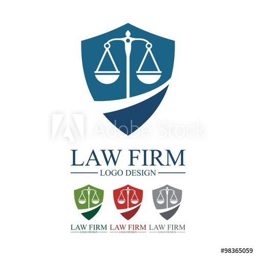 500x500 Law, Lawyer, Attorney, Pillar, Legas Scales, Shield, Design Logo