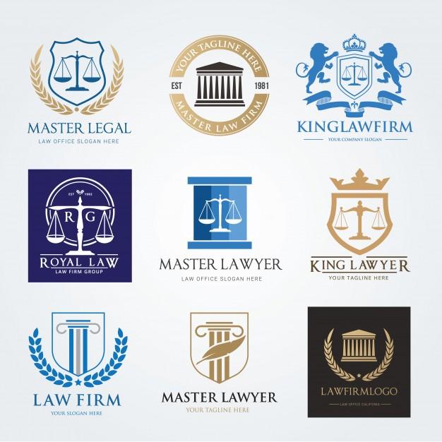 626x626 Law Firm Logo Icon Vector Design. Lawyer Logo Design Set Vector