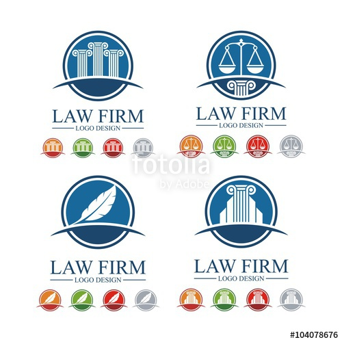 500x500 Lawyer, Law, Attorney, Pillar, Feather, Design Vector Logo