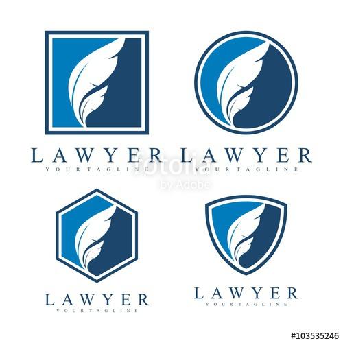 500x500 Feather Logo, Lawyer Logo, Simple Design Vector Logo Template