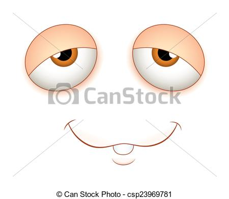 450x391 Lazy Face Expression. Lazy Cartoon Face Expression Vector