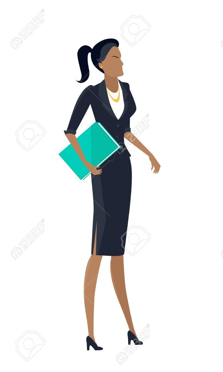 780x1300 Businesswoman Clipart Woman Leader ~ Frames ~ Illustrations ~ Hd