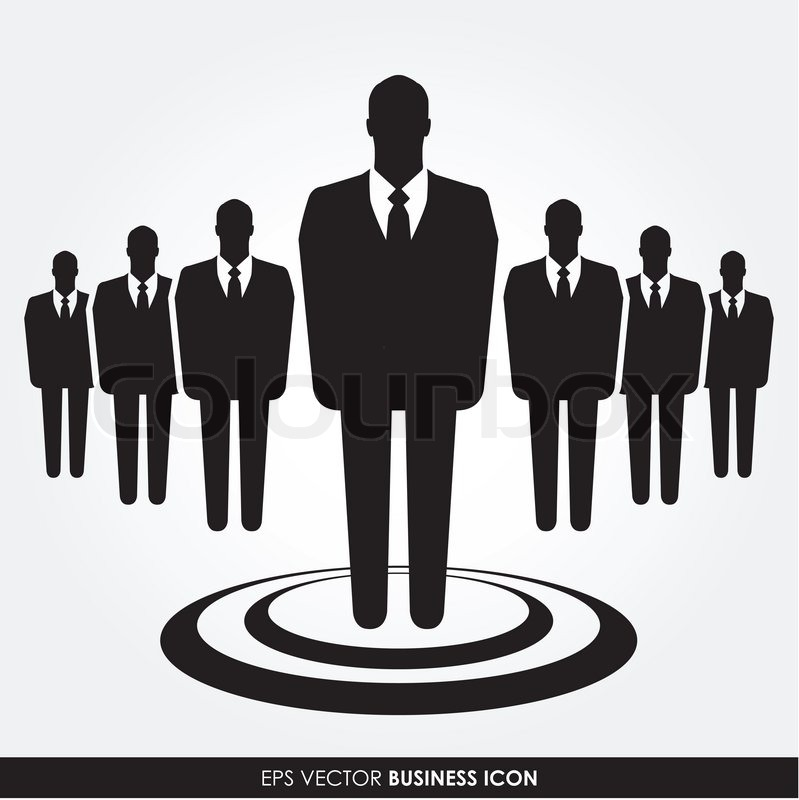 799x800 A Businessman Standing Out From The Crowd