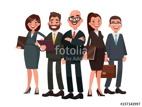500x375 Business People Are Led By A Leader. Vector Illustration In