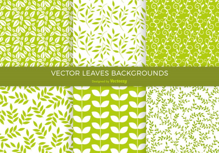 700x490 Green Leaves Background Vector Pack