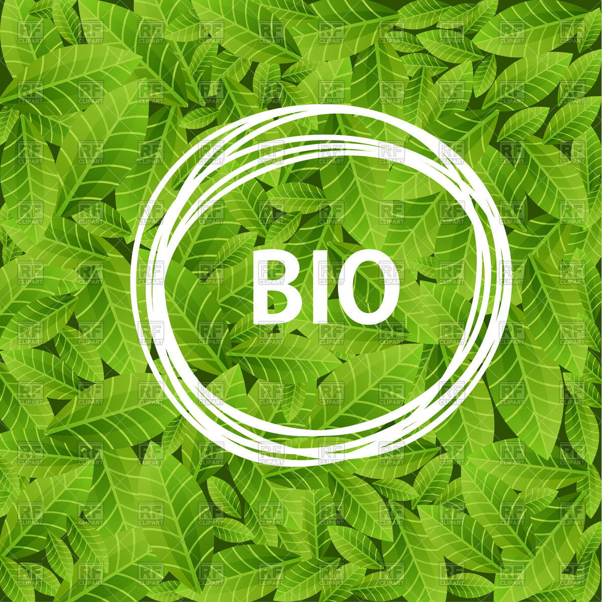 1200x1200 Green Leaves Background With Word Bio Vector Image Vector