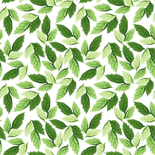 600x600 Seamless Leaf Pattern Vector Background Free Vector In