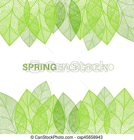 450x470 Spring Leaves Background. Spring Background With Green Leaves