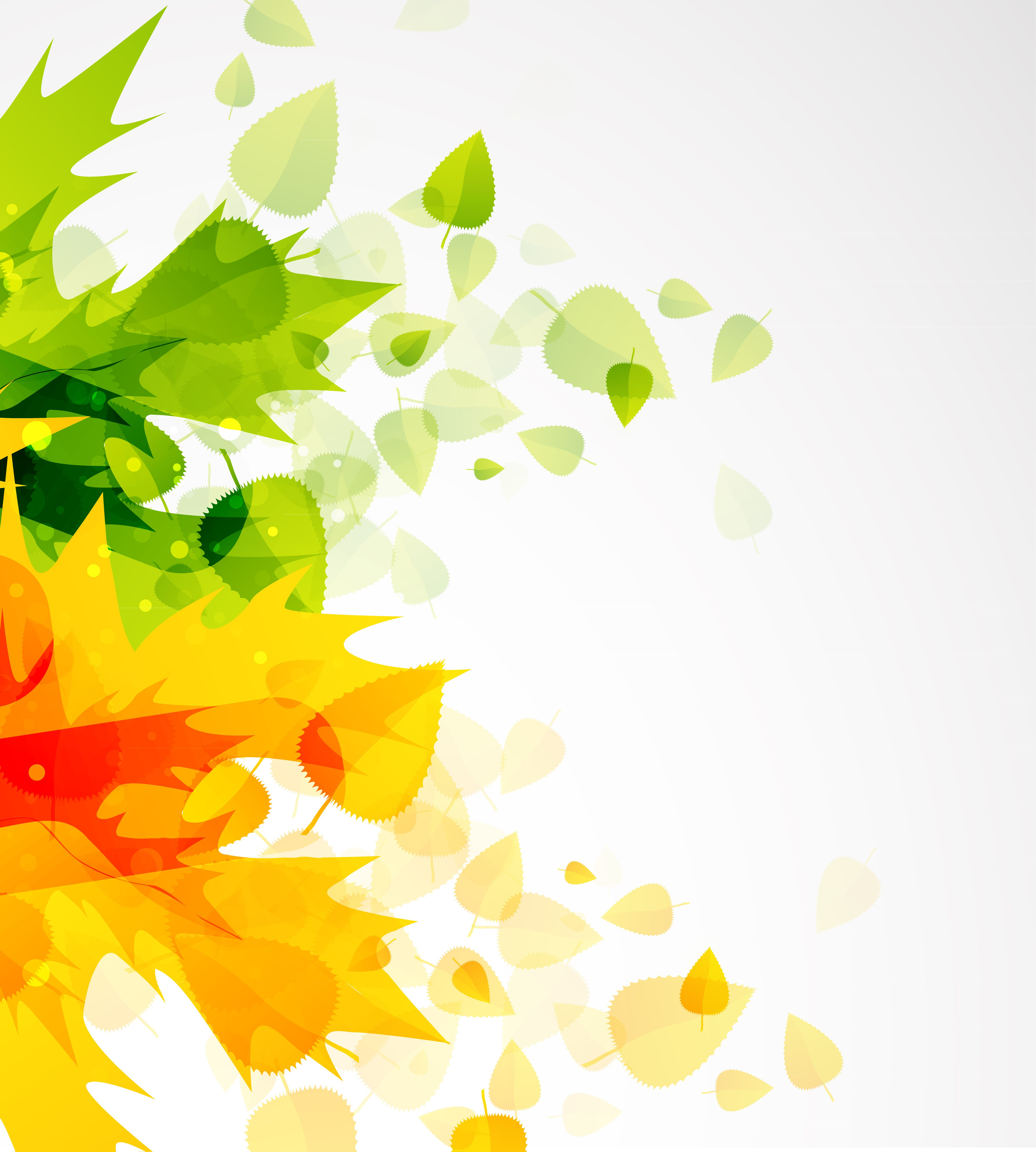 4498x5000 Free Vector Beautiful Autumn Leaf Background 01 Vector Graphic
