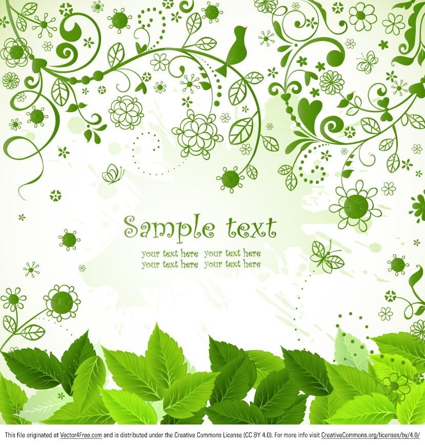 829x869 Free Flourish Leaf Background Vector