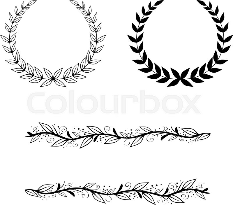 800x703 Natural Leaf And Border Frame And Border Collection Stock Vector