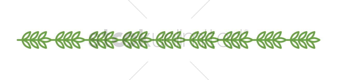 1300x310 Simple Leaf Border Design Vector Image