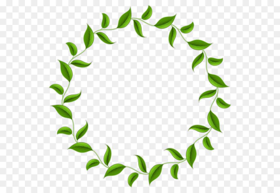 900x620 Tea Leaf Circle Wreath Clip Art