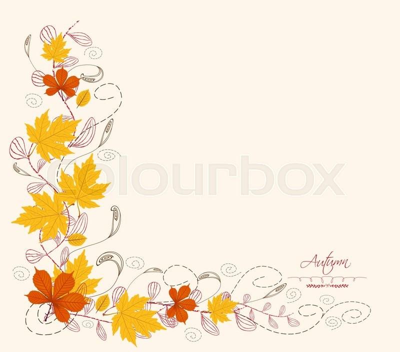 800x704 Autumn Leaf Border Stock Vector Colourbox