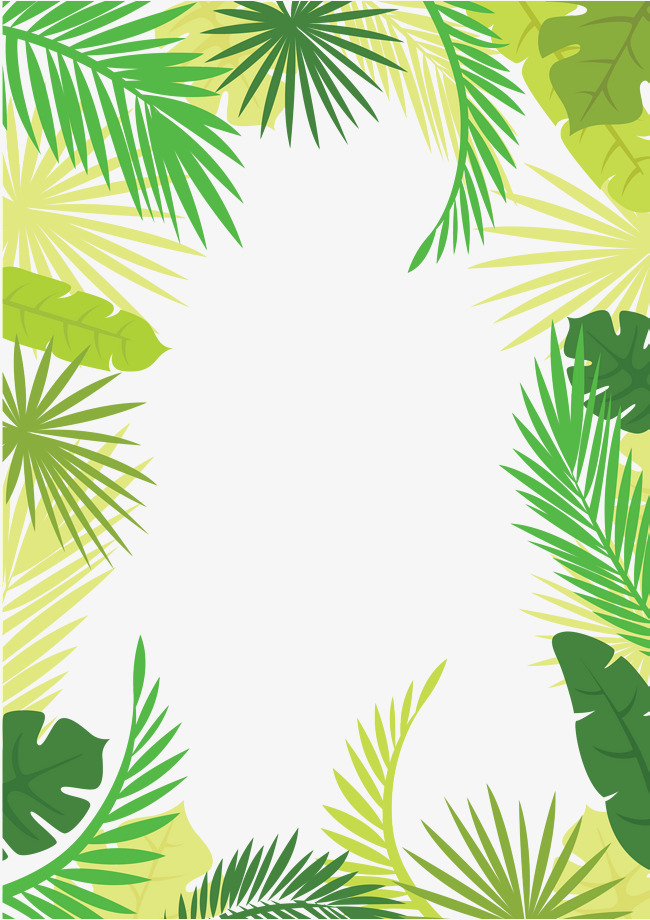 650x920 Vector Tree Leaves Border, Summer Border, Summer Border, Hand