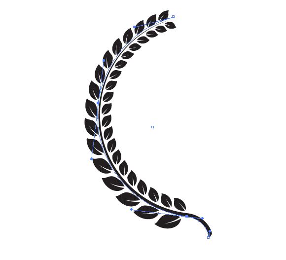580x527 How To Create A Golden Laurel Wreath Vector In Illustrator