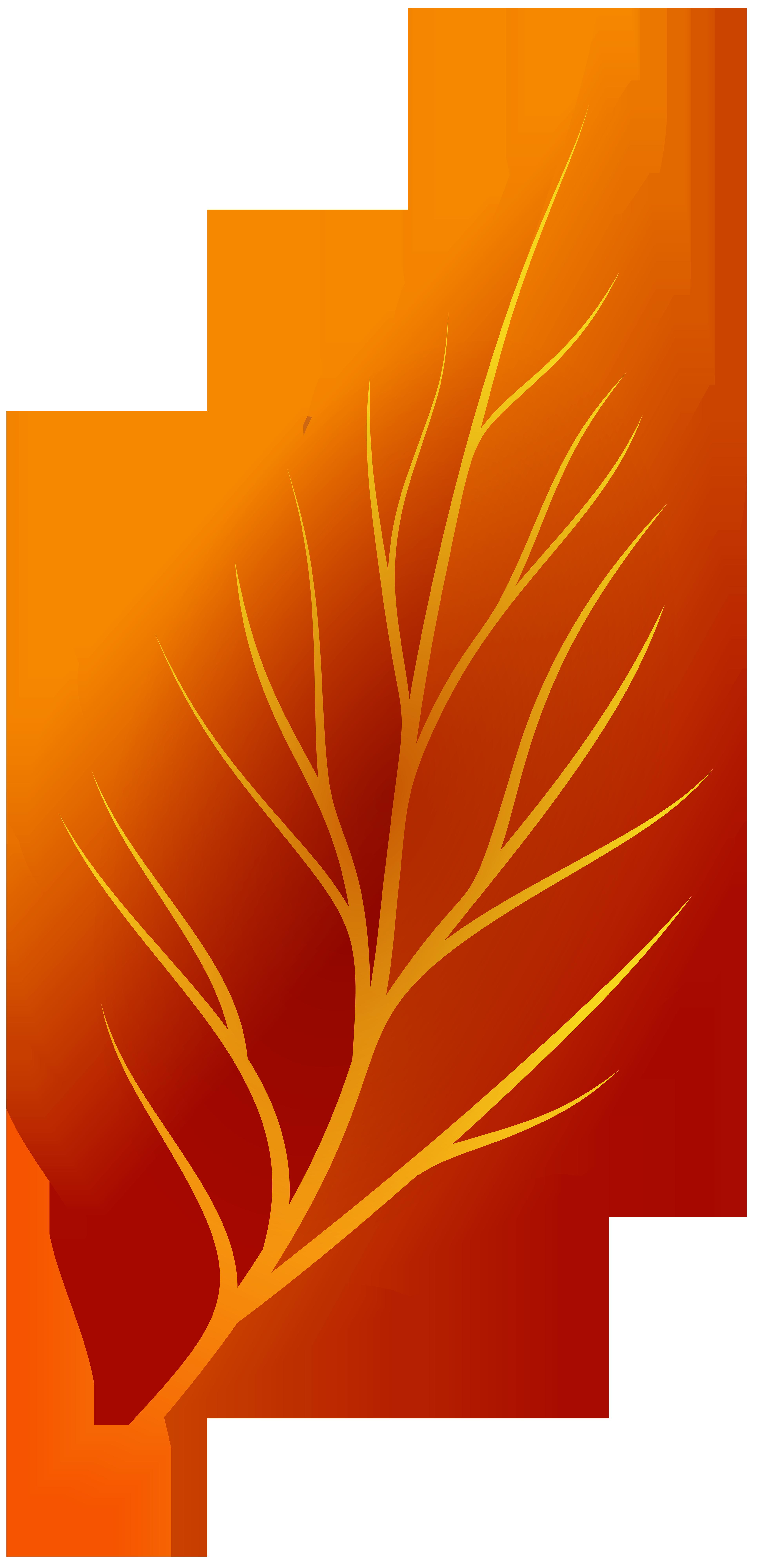 3892x8000 Leaf Clipart Crest