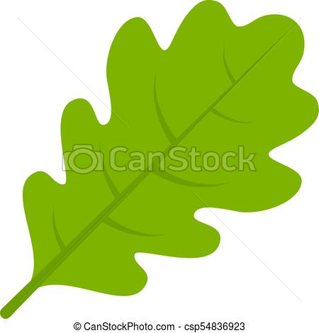 450x470 Green Oak Leaf Vector Icon. Green Oak Leaf Vector Illustration.