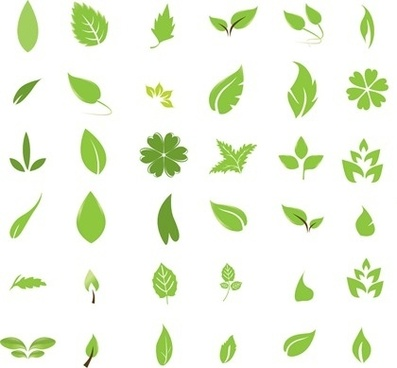 397x368 Single Green Leaf Icon Free Vector Download (30,525 Free Vector