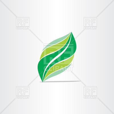 400x400 Stylized Green Eco Leaf Icon Vector Image Vector Artwork Of