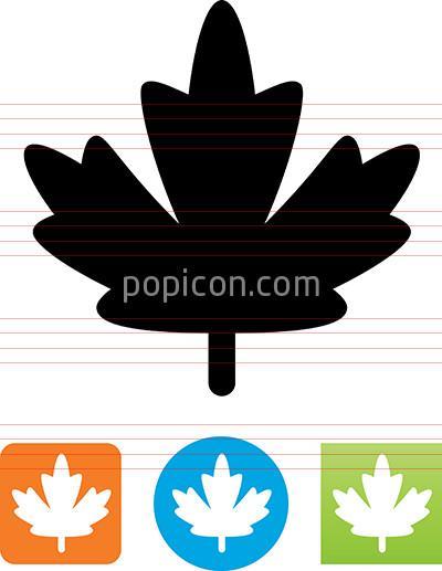 400x517 Vector Maple Leaf Icon