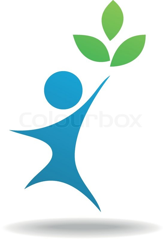 551x800 Vector Illustration Of People And Leaf Icon, Nature Symbol Stock