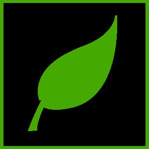 300x300 Green Leaf Icon Clip Art
