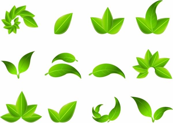 600x427 Green Leaf Icons Free Vector In Adobe Illustrator Ai ( .ai