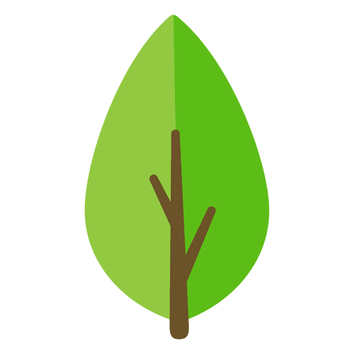 512x512 Green Leaf Illustration