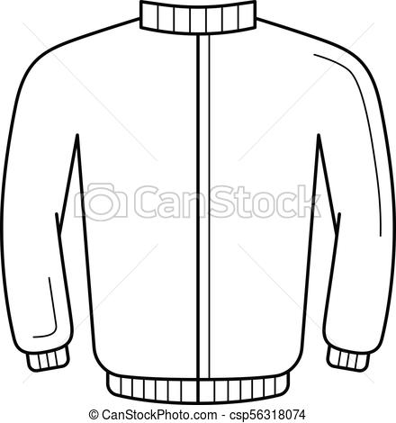 440x470 Leather Jacket Line Icon. Leather Jacket Vector Line Icon Isolated