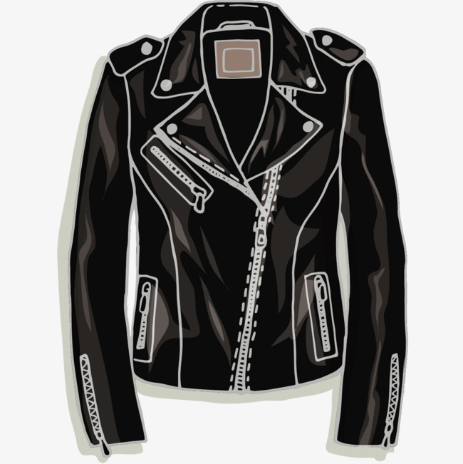 650x651 Black Leather Vector, Black Vector, Jacket, Leather Clothing Png