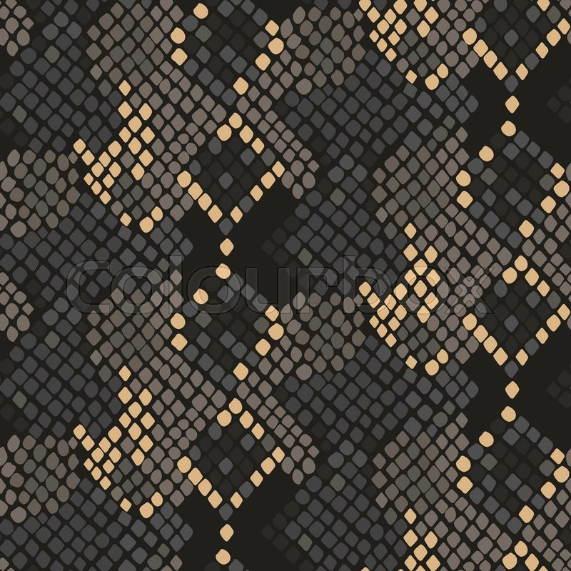 800x800 Snake Skin Seamless Vector Texture. Brown Tone Colors Snake