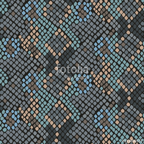 500x500 Snake Skin Seamless Vector Texture. Turquoise Tone Colors Snake