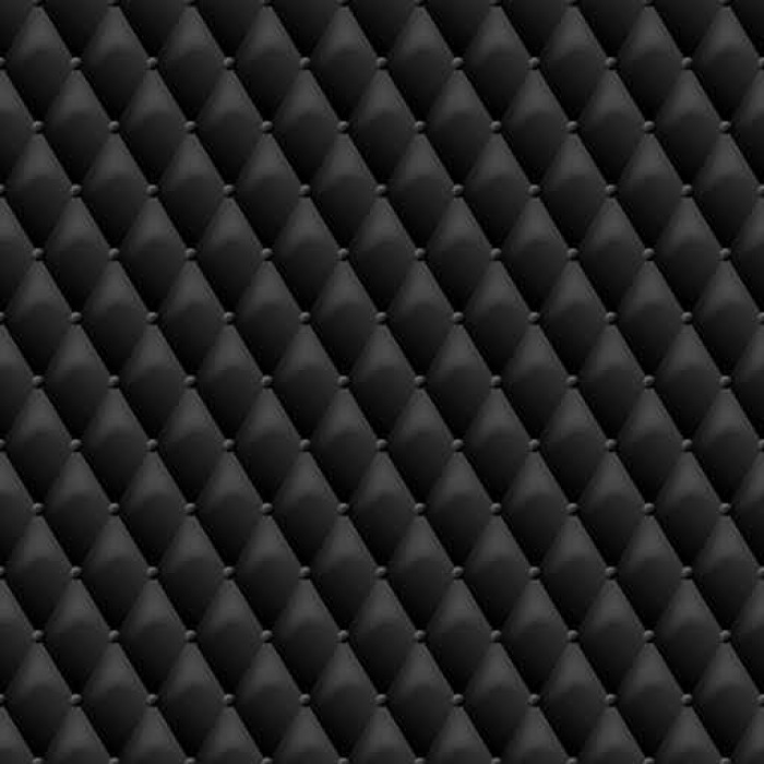 700x700 Seamless Black Leather Texture. Vector Leather Background. Luxury