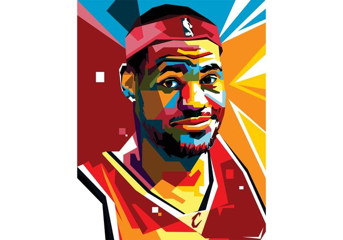 700x490 Free Lebron Vector Portrait Two