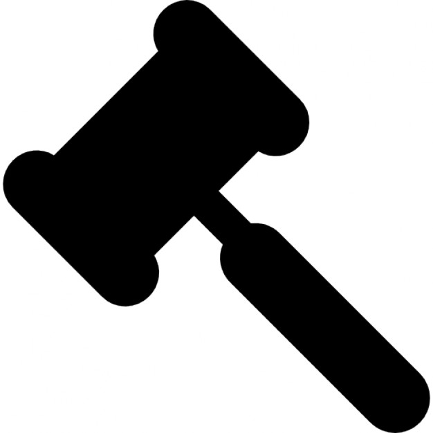 626x626 Legal Hammer Black Shape Icons Free Download