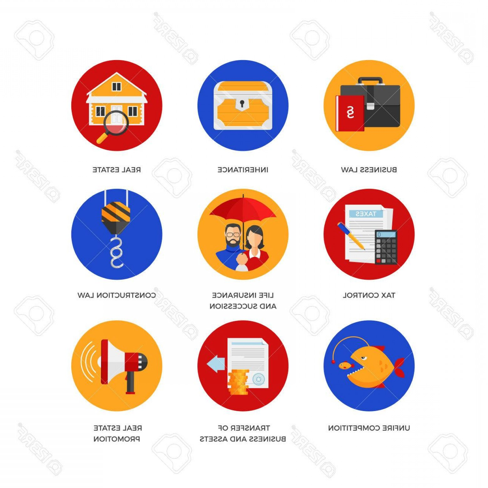 1560x1560 Photostock Vector Vector Icons Of Legal Services Like Business And