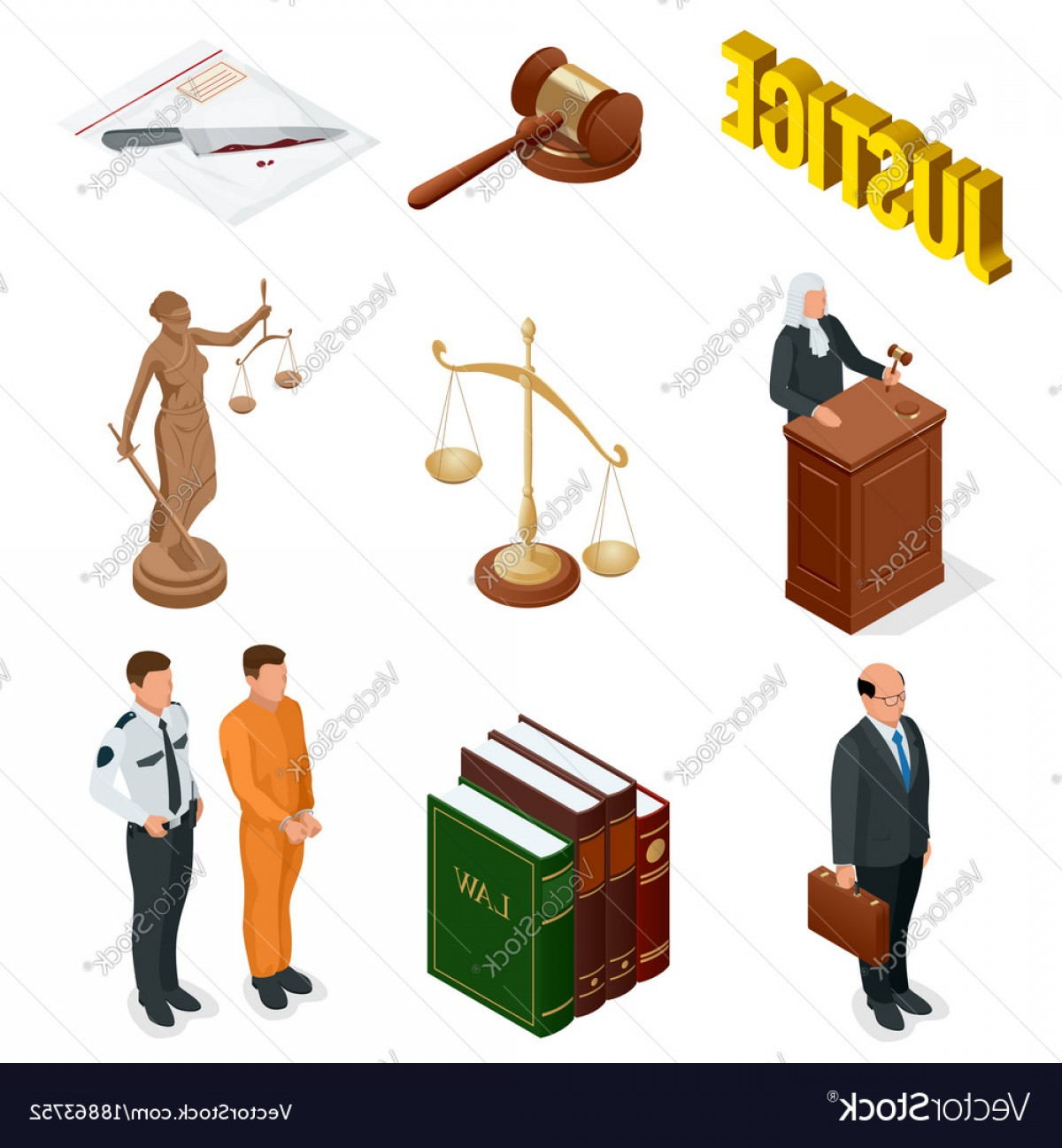 1200x1296 Isometric Law And Justice Symbols Of Legal Vector Shopatcloth